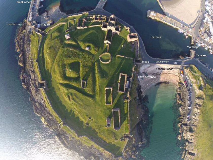 Peel Castle from the air